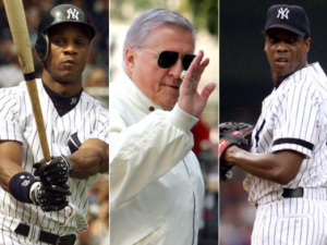 Photo Credit: New York Daily News. Darryl Strawberry, George Steinbrenner, and Doc Gooden from the 1996 Yankees' season.