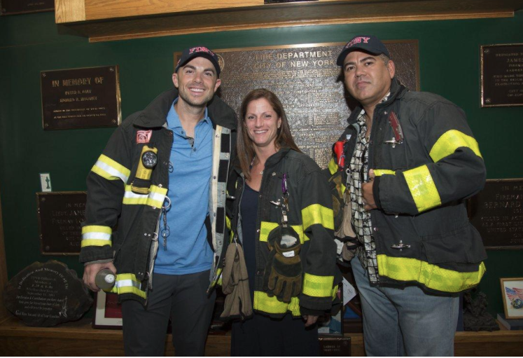 Photo Courtesy of the New York Daily News.  (August, 2016) New York Mets stars David Wright and Edgardo Alfonso pose for photos while visiting a Manhattan firehouse that accounted for two deaths on September 11, 2001.  This is an annual tradition for Wright.