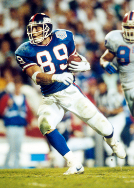 Mark Bavaro, 2017 candidate for the Pro Football Hall of Fame in Canton, Ohio, plays in a Super Bowl.
