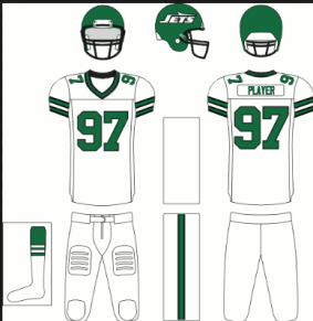 2017 New York Jets Color Rush uniform plan
