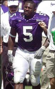 LaDainian Tomlinson wearing #5 during his time at TCU. Michael Onyemaobi. #carterBoys17.