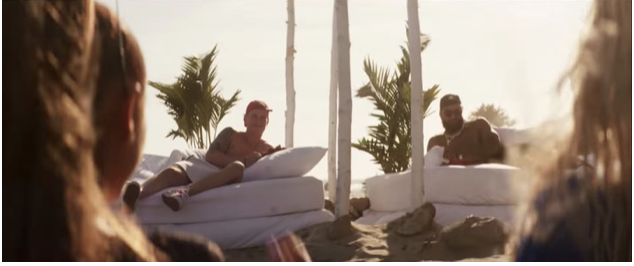 "Brad Wing, Odell Beckham, Jr., Ariana Grande, Nicki Minaj in ""Bed"" from Queen"
